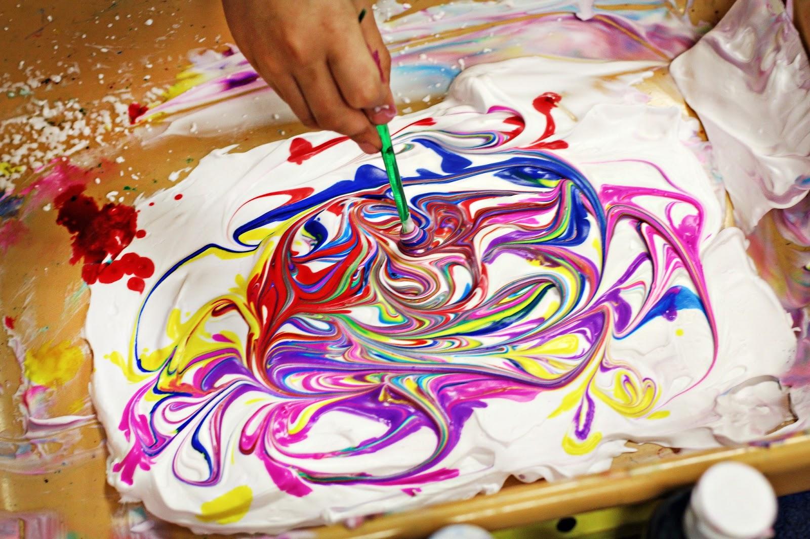 Scheerschuim kunstprojecten voor kinderen